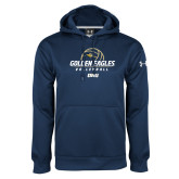Under Armour Navy Performance Sweats Team Hoodie-Stacked Volleyball Design