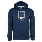 Under Armour Navy Performance Sweats Team Hoodie-Soccer Shield Design
