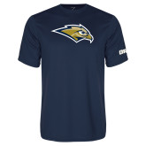 Performance Navy Tee-Golden Eagle Mascot