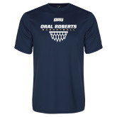 Performance Navy Tee-Basketball Net Design
