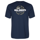 Performance Navy Tee-Basketball Outline Design