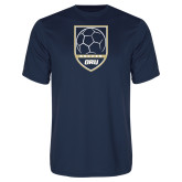 Performance Navy Tee-Soccer Shield Design