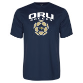 Syntrel Performance Navy Tee-Soccer Design
