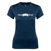 Ladies Syntrel Performance Navy Tee-True ORU Blue
