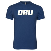 Next Level Vintage Navy Tri Blend Crew-ORU