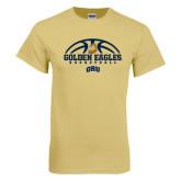 Champion Vegas Gold T Shirt-Golden Eagles Basketball Half Ball