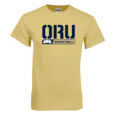 Champion Vegas Gold T Shirt-ORU Basketball Stencil