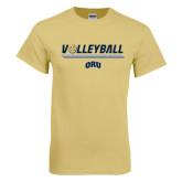 Champion Vegas Gold T Shirt-Volleyball w/ Ball
