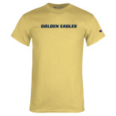 Champion Vegas Gold T Shirt-Golden Eagles Wordmark
