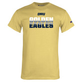 Champion Vegas Gold T Shirt-Golden Eagles Stencil