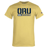 Champion Vegas Gold T Shirt-ORU Basketball Design