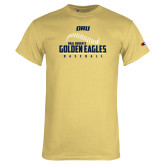 Champion Vegas Gold T Shirt-Baseball Stitch Design