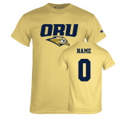 Champion Vegas Gold T Shirt-ORU w Mascot, Custom Tee w/ Name and #