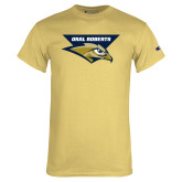 Champion Vegas Gold T Shirt-Oral Roberts w/ Eagle Head Stacked