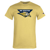 Champion Vegas Gold T Shirt-ORU Athletics w/ Eagle Head Stacked