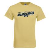 Champion Vegas Gold T Shirt-Golden Eagles Slanted w/ Logo