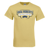 Champion Vegas Gold T Shirt-Oral Roberts Golden Eagles Arched Shield
