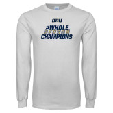 White Long Sleeve T Shirt-Whole Person Champions