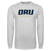 White Long Sleeve T Shirt-ORU Golden Eagles Distressed
