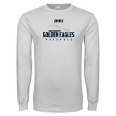White Long Sleeve T Shirt-Baseball Stitch Design