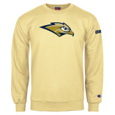 Champion Vegas Gold Fleece Crew-Golden Eagle Mascot