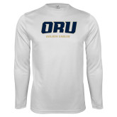 Performance White Longsleeve Shirt-ORU Golden Eagles