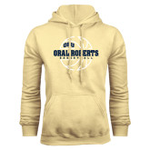 Champion Vegas Gold Fleece Hoodie-Oral Roberts Basketball Lined Ball