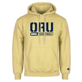Champion Vegas Gold Fleece Hoodie-ORU Basketball Design