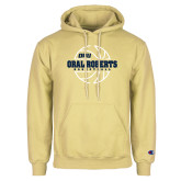 Champion Vegas Gold Fleece Hoodie-Basketball Outline Design