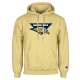 Champion Vegas Gold Fleece Hoodie-ORU Athletics w/ Eagle Head Stacked