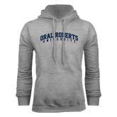 Grey Fleece Hoodie-Arched Oral Roberts University