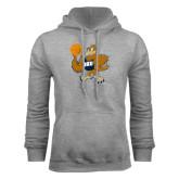 Grey Fleece Hoodie-Basketball Eli