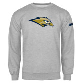 Grey Fleece Crew-Golden Eagle Mascot