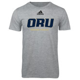 Adidas Sport Grey Logo T Shirt-ORU Golden Eagles