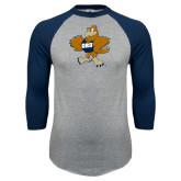 Grey/Navy Raglan Baseball T Shirt-Eli