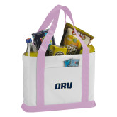 Contender White/Pink Canvas Tote-ORU