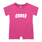 Bubble Gum Pink Infant Romper-ORU