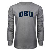 Grey Long Sleeve T Shirt-ORU