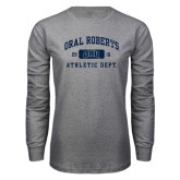 Grey Long Sleeve T Shirt-Golden Eagles Stacked
