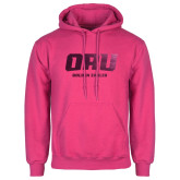 Fuchsia Fleece Hoodie-ORU Golden Eagles  Foil