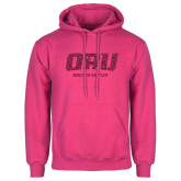 Fuchsia Fleece Hoodie-ORU Golden Eagles Hot Pink Glitter