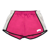 Ladies Fuchsia/White Team Short-ORU