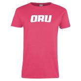 Ladies Fuchsia T Shirt-ORU