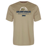 Performance Vegas Gold Tee-Stacked Volleyball Design