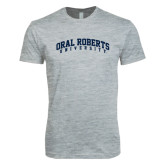 Next Level SoftStyle Heather Grey T Shirt-Arched Oral Roberts University