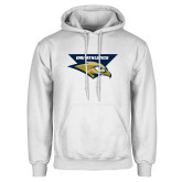 White Fleece Hoodie-ORU Athletics w/ Eagle Head Stacked