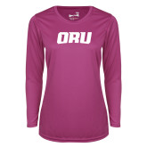 Ladies Syntrel Performance Raspberry Longsleeve Shirt-ORU