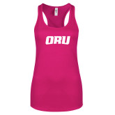 Next Level Ladies Raspberry Ideal Racerback Tank-ORU