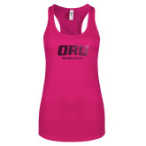 Next Level Ladies Raspberry Ideal Racerback Tank-ORU Golden Eagles  Foil