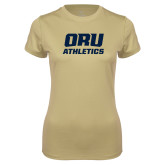 Ladies Syntrel Performance Vegas Gold Tee-Athletics
